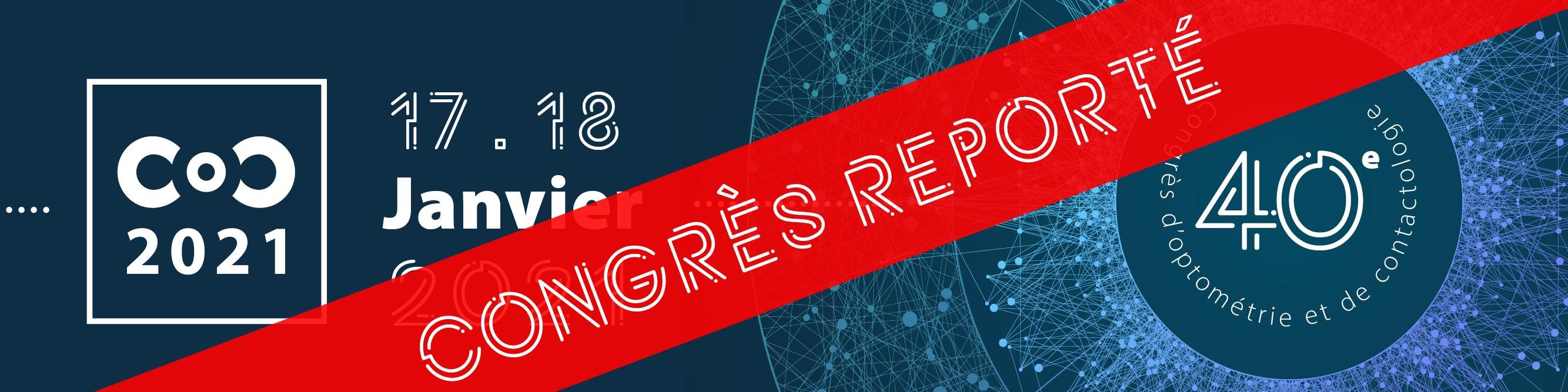 Le 40ème Congrès d'Optométrie et de Contactologie est reporté