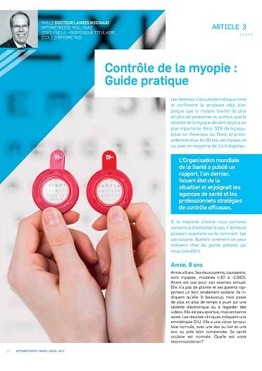 Contrôle de la myopie : Guide pratique