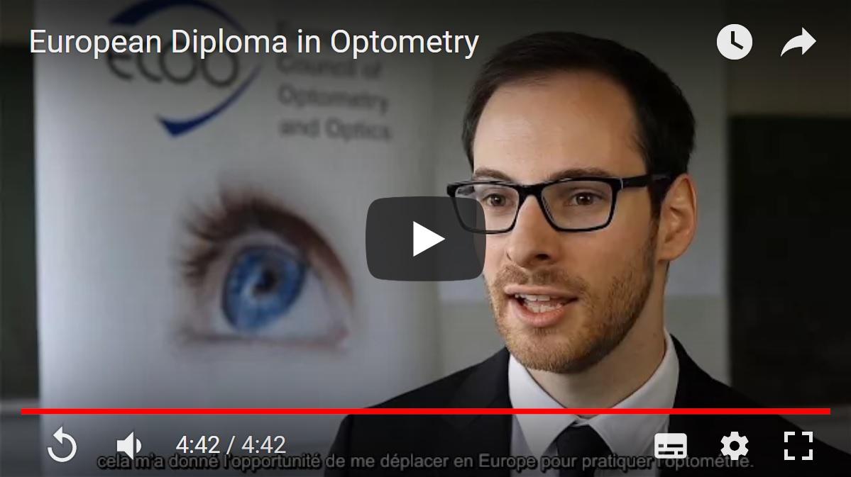Pourquoi le Diplôme Européen d'Optométrie ?