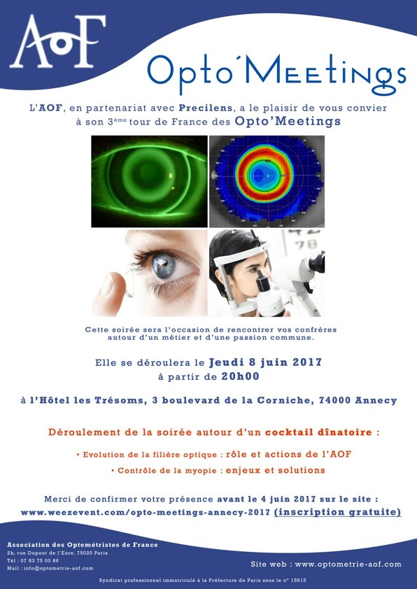 OPTO'MEETING ANNECY, INSCRIPTION GRATUITE.