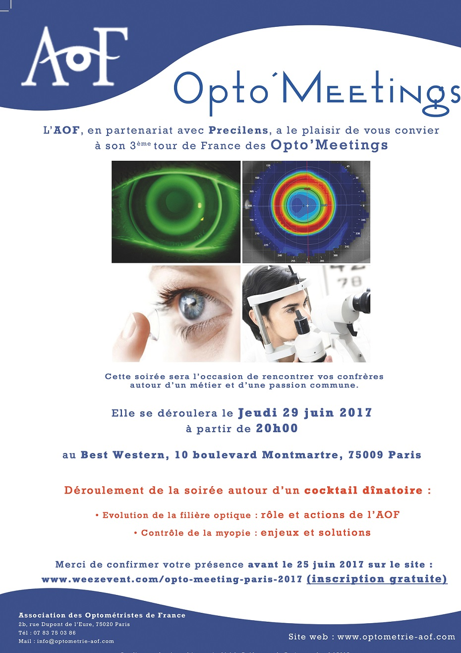 OPTO'MEETING PARIS, INSCRIPTION GRATUITE.