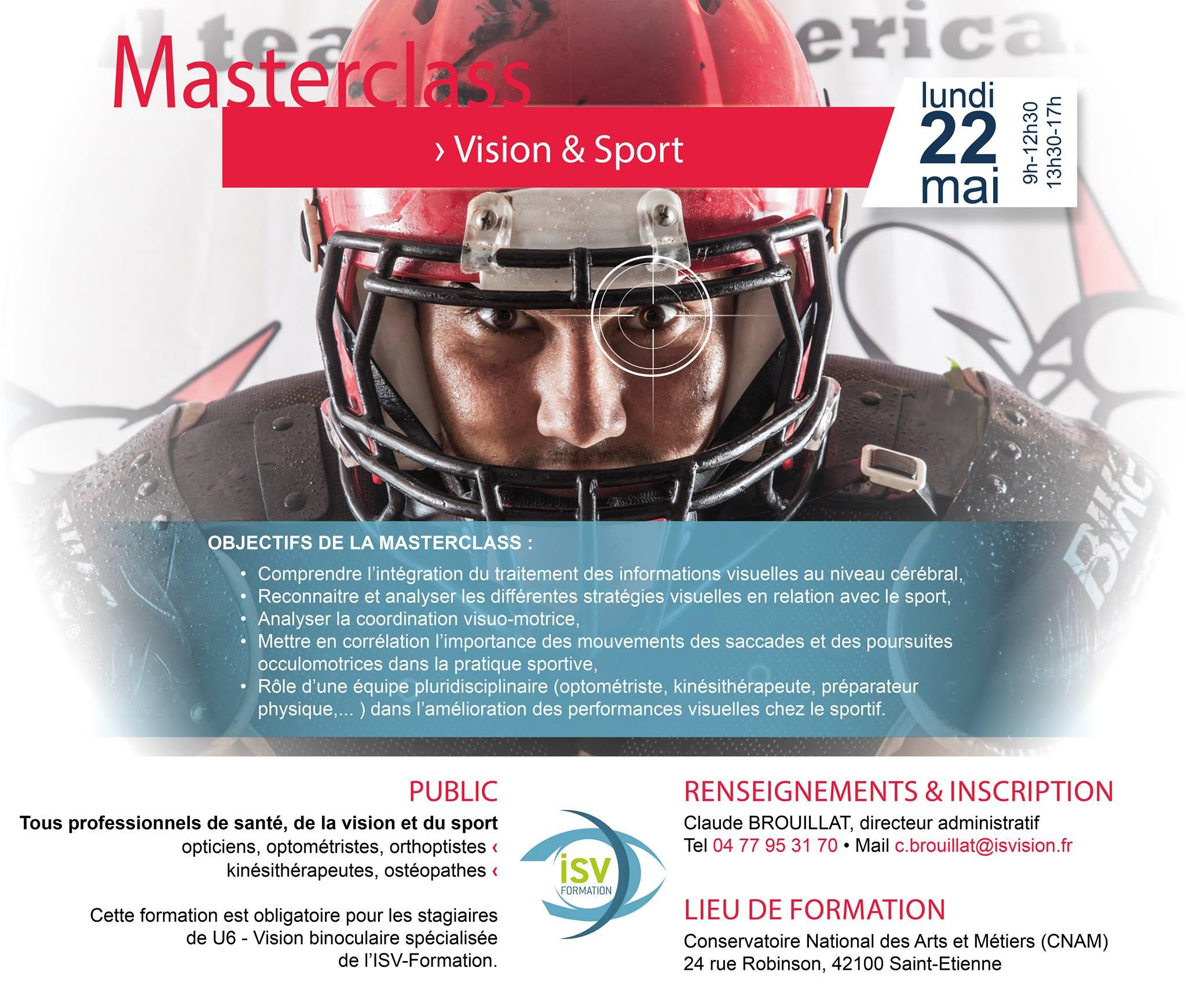MASTERCLASS - La vision et le sport