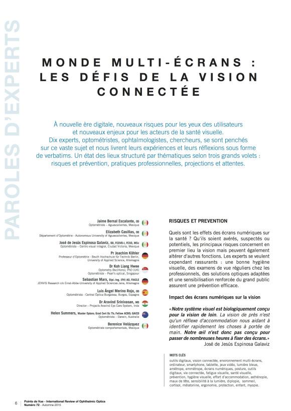 MONDE MULTI-ÉCRANS : LES DÉFIS DE LA VISION CONNECTÉE