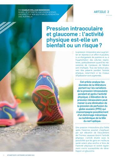 Pression intraoculaire et glaucome : l'activité physique est-elle un bienfait ou un risque ?