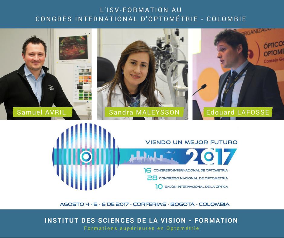 Des Optométristes Français au Congrès International d'Optométrie en Colombie