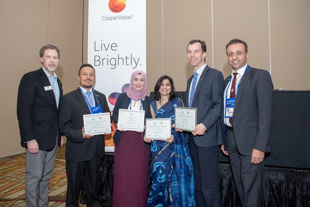 L'IACLE félicite ses lauréats 2016 lors du meeting de l' Académie Américaine d'Optométrie.