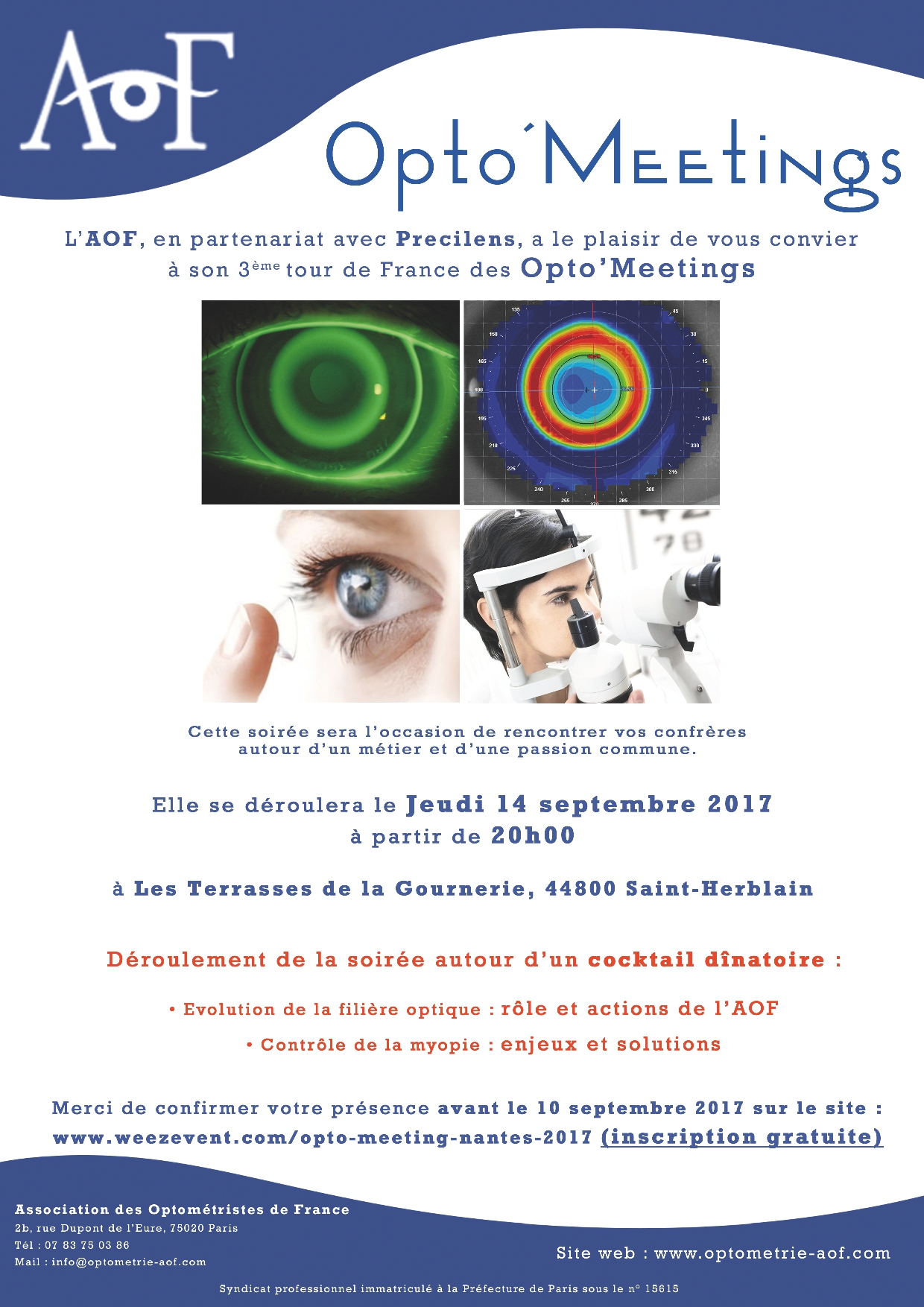Opto'Meetings Nantes, Inscription gratuite.
