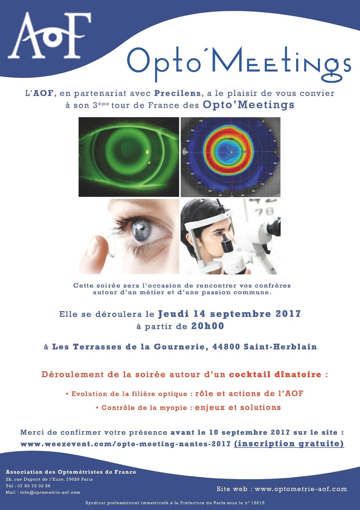 Opto'Meetings Nantes, Inscription gratuite.